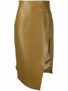 Off-White юбка-карандаш асимметричного кроя OWJC006E20LEA0026300