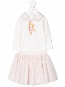 Monnalisa комплект из боди и юбки Teddy Bear 356502S16020