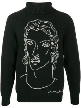 Casablanca свитер Sid с высоким воротником MKW002