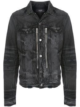 Amiri джинсовая куртка Bandana MX2 с эффектом потертости F0M04178RDABL