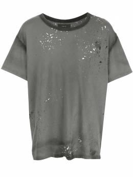 Amiri футболка с эффектом потертости F0M03241CJBLK