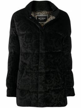 Etro куртка-пуховик с узором 187679063