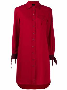 Aspesi платье-рубашка с завязками на манжетах 004WL571