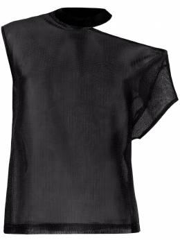 Rta сетчатая футболка асимметричного кроя WU0522863