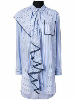 MSGM длинная рубашка с оборками 2441MDE11Y184119