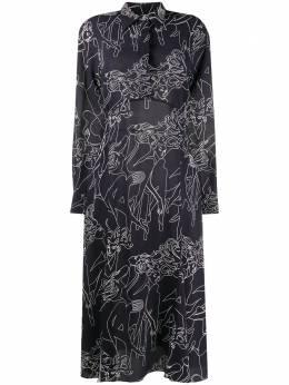 Victoria, Victoria Beckham платье-рубашка Cabaret с абстрактным принтом 2320WDR001665C