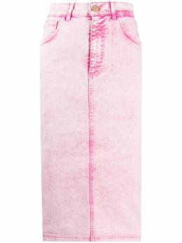Vivetta джинсовая юбка миди с завышенной талией C1216016