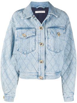 Alessandra Rich джинсовая куртка свободного кроя FAB2260F3043