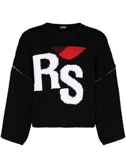 Raf Simons свитер RS вязки интарсия 202843