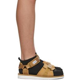 Suicoke Beige maharishi Edition Kuno Flat Sock Sandals OG-212/ KUNO