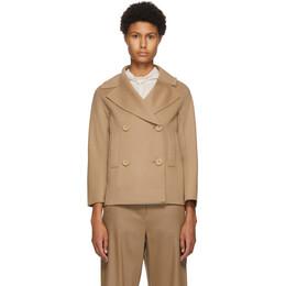 'S Max Mara Beige Wool Connie Jacket 90460109000 80620