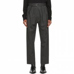 Lemaire Grey Wool 4 Pleats Trousers M 203 PA153 LF484