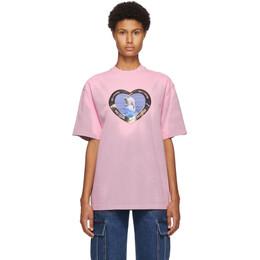 We11Done Pink Thermo Sensitive Polar Bear T-Shirt WD-TT8-20-105-U-PK