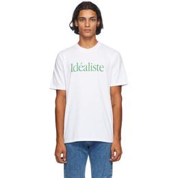 Casablanca White Idealiste T-Shirt MF20-TS-001