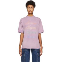 We11Done Purple Hand-Bleached T-Shirt WD-TT8-20-099-U-PP