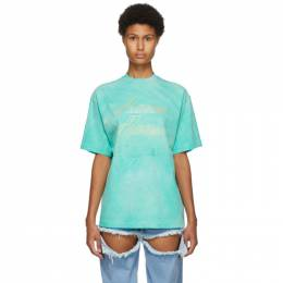 We11Done Green Hand-Bleached T-Shirt WD-TT8-20-099-U-GR