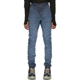 Boris Bidjan Saberi Blue Crinkled Jeans P13 TIGHT FIT-F1939