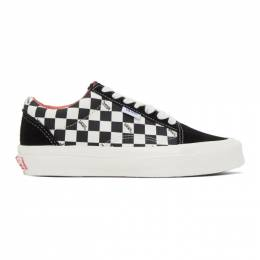 Vans Black and Off-White Checkerboard NS OG Old Skool LX Sneakers VN0A4UUT20Y