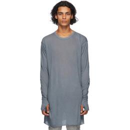 Boris Bidjan Saberi Grey Glove Long Sleeve T-Shirt LS1-FTT00001