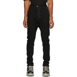 Boris Bidjan Saberi Black Grey Stitch Resin-Dyed Jeans P4-F1603K