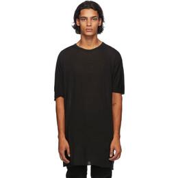 Boris Bidjan Saberi Black Cashmere One Piece T-Shirt ONE PIECE TS-FTT0001
