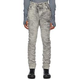 Boris Bidjan Saberi Grey Crinkled Jeans P13 TIGHT FIT-F1603K