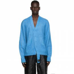 We11Done Blue Mohair Cardigan WD-KV8-20-568-U-SK