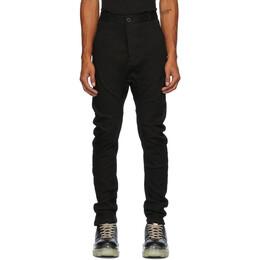 Boris Bidjan Saberi Black Resin-Dyed Jeans P4-F1401M