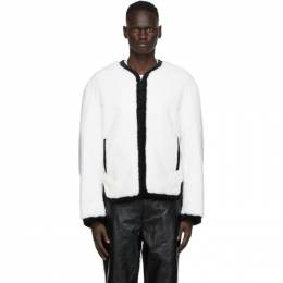 We11Done White Faux-Fur Jacket WD-F58-20-131-M-WH
