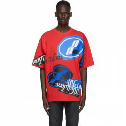 We11Done Red Stacked Logo T-Shirt WD-TT8-20-113-U-RD