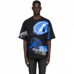 We11Done Black Stacked Logo T-Shirt WD-TT8-20-113-U-BK