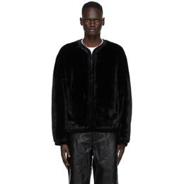 We11Done Black Faux-Fur Jacket WD-F58-20-131-M-BK