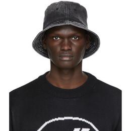 We11Done Black Denim Logo Bucket Hat WD-AH8-20-114-U-WB