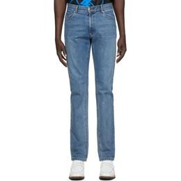 We11Done Blue Embossed Pocket Jeans WD-DP8-20-031-M-BL