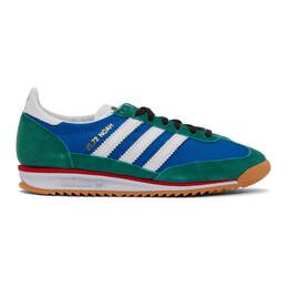 Noah Nyc Blue and Green adidas Originals Edition SL 72 Sneakers FW3276