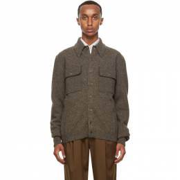 Lemaire Brown Overshirt Jacket M 203 KN308 LK085