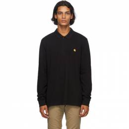 Carhartt Work In Progress Black Chase Long Sleeve Polo I027047