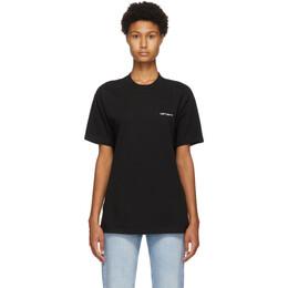 Carhartt Work In Progress Black Script Embroidery T-Shirt I025778 8990