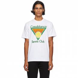 Casablanca White Tennis Club T-Shirt MS20-TS-001