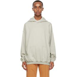 Haider Ackermann SSENSE Exclusive Grey Cotton Hoodie 204-3842-222-071