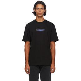 Carhartt Work In Progress Black Neon Script T-Shirt I028477