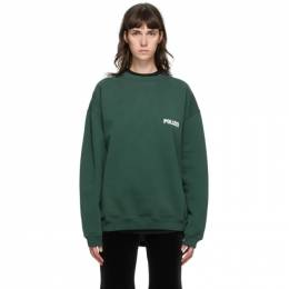 Vetements Green Polizei Sweatshirt UAH21TR529