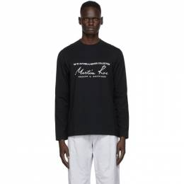 Martine Rose Black Classic Long Sleeve T-Shirt MRAW20-604 CLASSIC L/