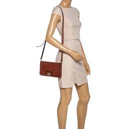 Kate Spade Brown Leather Flap Crossbody Bag 321439