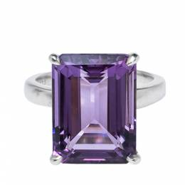 Tiffany & Co. Sparklers Amethyst Silver Cocktail Ring 56 321902