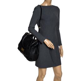 Marc By Marc Jacobs Black Leather Classic Q Francesca Shoulder Bag 320185