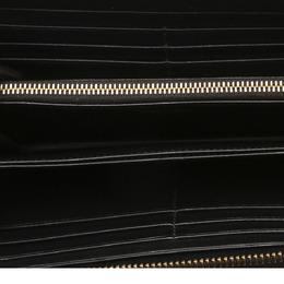 Prada Black Leather Vitello Move Zip Wallet 319102