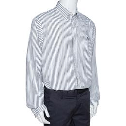 Ralph Lauren Monochrome Striped Cotton Button Front Shirt XL 320196
