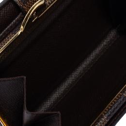 Louis Vuitton Damier Ebene French Purse Wallet 321561
