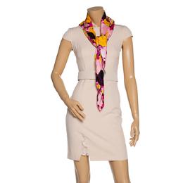 Dior Pink Floral Print Silk Scarf 320946